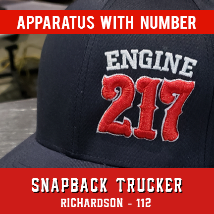 Apparatus with Number Custom Hat - Snapback Trucker