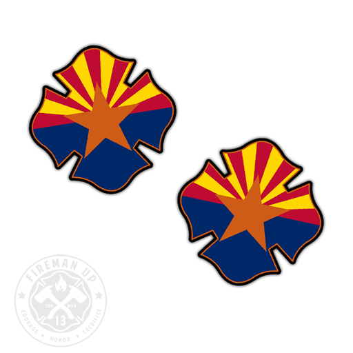 "Arizona Flag Fire Maltese - 2"" Sticker Pack"