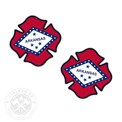 "Arkansas Flag Fire Maltese - 2"" Sticker Pack"