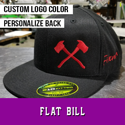 7ba85cf9b Axes - Custom Hat - Flat Bill Flexfit