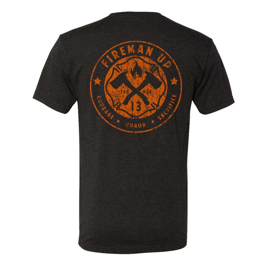 Classic Logo Black and Orange Tee