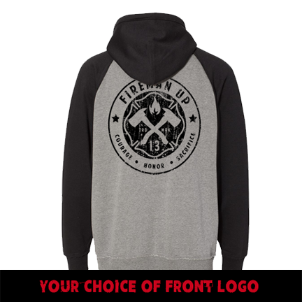 Classic Logo - Two-Toned - Smoke Black Hoodie