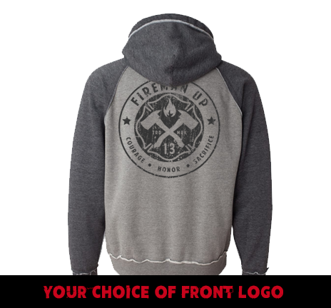 Classic Logo - Two-Toned - Smoke Charcoal Hoodie
