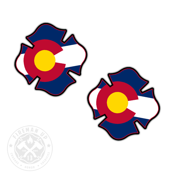 "Colorado Flag Fire Maltese - 2"" Sticker Pack"
