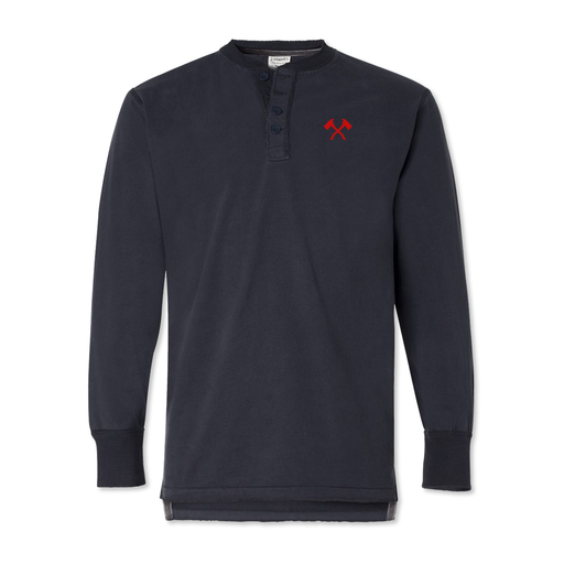 Crossed Axes - Long Sleeve Henley
