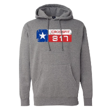 CrossFit 817 Distressed Logo Heavyweight Hoodie Unisex