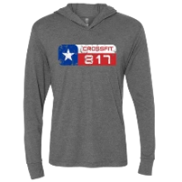 CrossFit 817 Distressed Logo Lightweight Hoodie Unisex