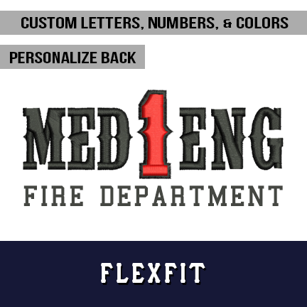 Custom FD Lettering and Number - Flexfit