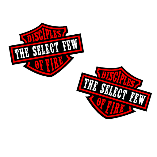 "Disciples of Fire Red - 2"" Sticker Pack"