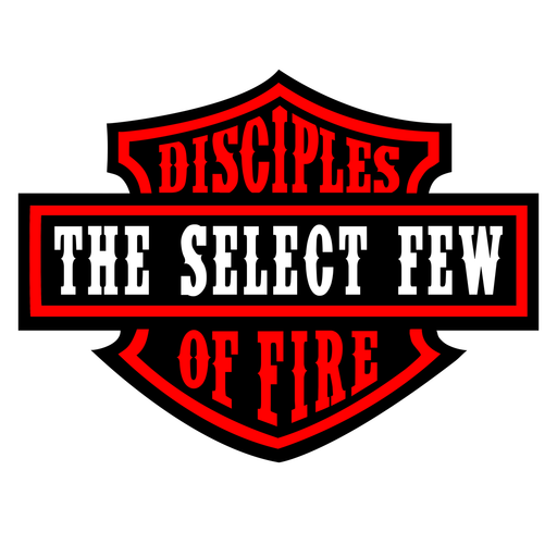 "Disciples of Fire Badge Red - 4"" Sticker"