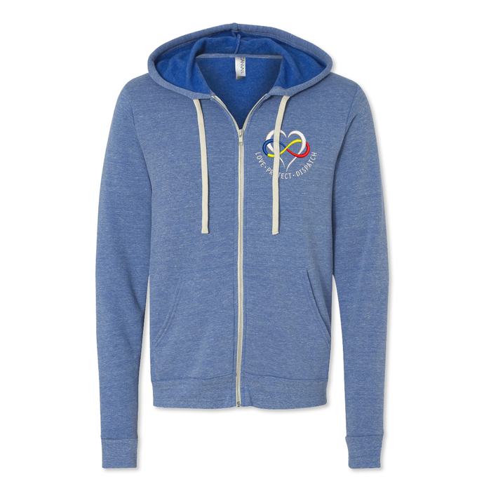 Dispatcher Heart Logo - Midweight Sponge Zip up Hoodie