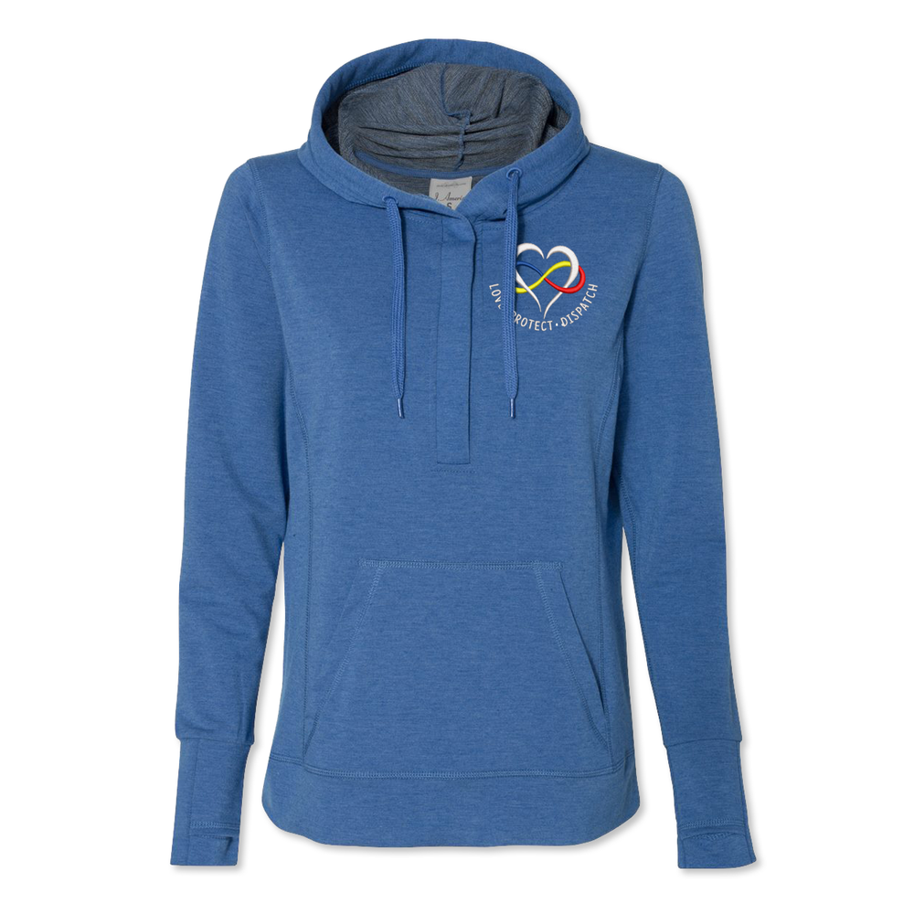 Dispatcher Heart Logo - Midweight Terry Pullover Hoodie