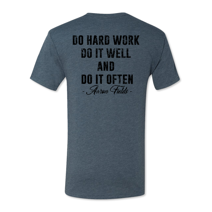 Iron Brotherhood FOOLS - Do Hard Work - Men's Tri Blend Tee - PUBLIC