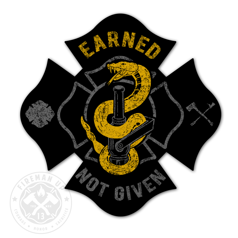 "Earned Not Given - Nozzle  4"" Sticker"