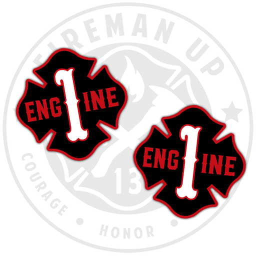 Engine 1 Sticker Pack Fireman Up