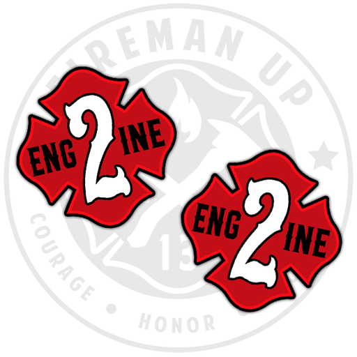 Engine 2 Sticker Decal Pack Fireman Up