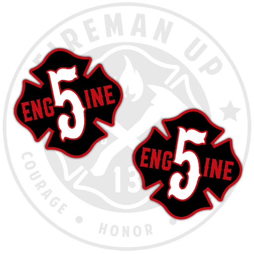 Engine 5 Sticker Decal Pack Fireman Up
