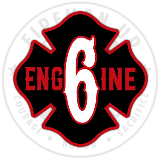 Engine 6 Apparatus Fire Department Sticker Decal