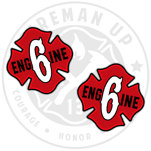 Engine 6 Sticker Pack Fireman Up