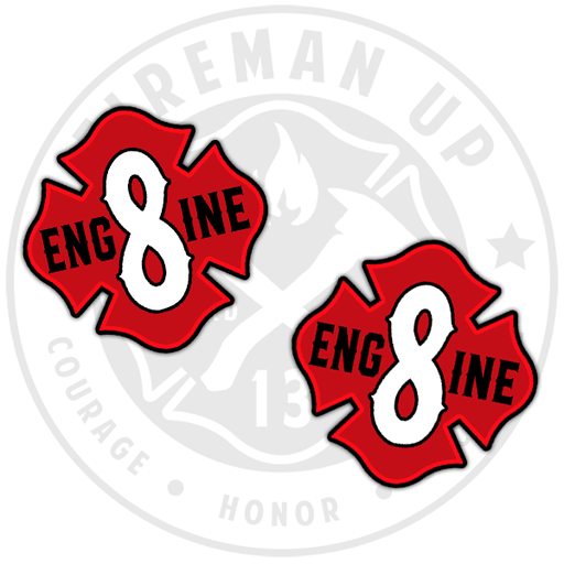 Engine 8 Sticker Decal Red