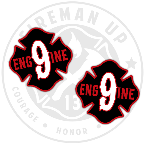 Engine 9 Fire Sticker Decal