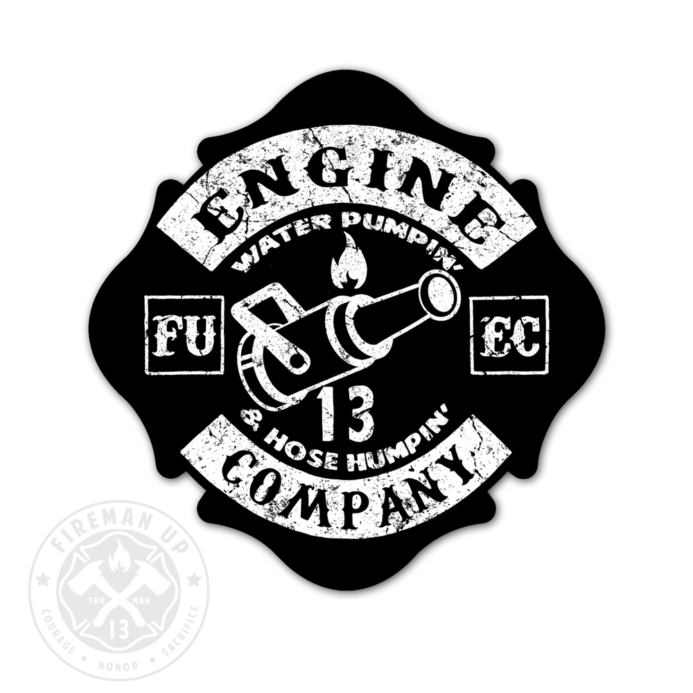 "Engine Company Maltese - 4"" Sticker"