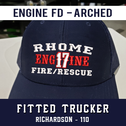Engine FD Arched Custom Hat - Fitted Trucker