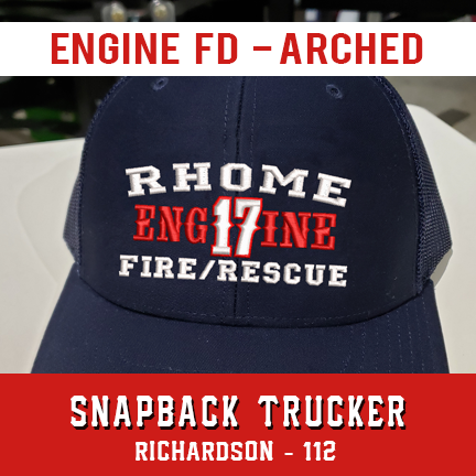 Engine FD Arched Custom Hat - Snapback Trucker