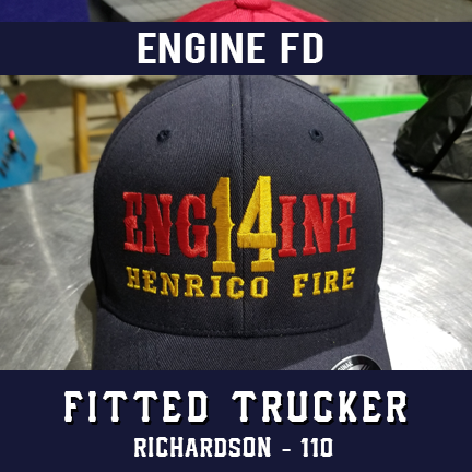 Engine FD Custom Hat - Fitted Trucker