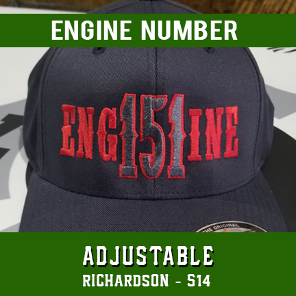 Engine Number Outlined Custom Hat - Adjustable