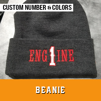 Engine Number Outlined Custom Beanie