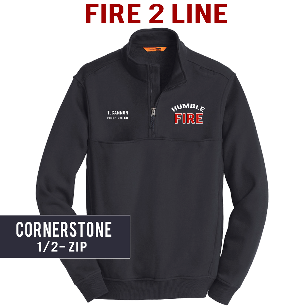 Fire 2 Line - CornerStone 1/2 Zip Job Shirt