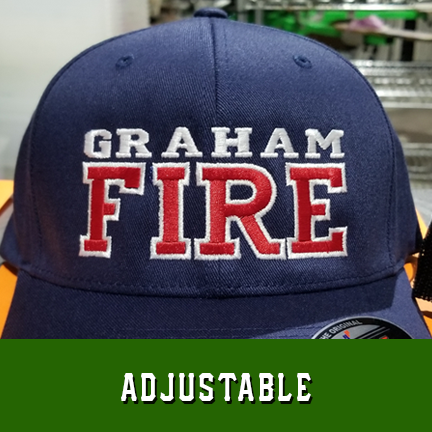Fire 2 Line Custom Hat - Adjustable