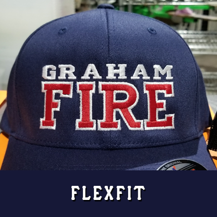 Fire 2 Line Custom Hat - Flexfit