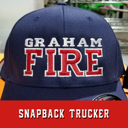 Fire 2 Line Custom Hat - Snapback Trucker