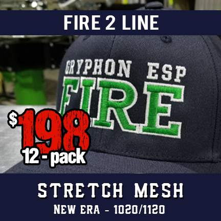 Fire 2 Line Custom Hat - 12 Pack New Era Stretch