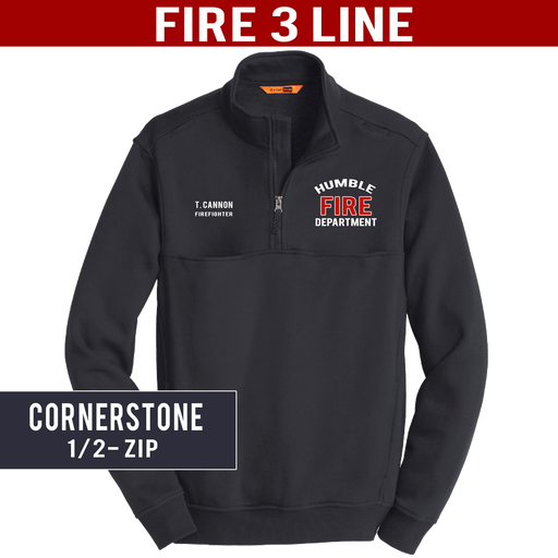 Fire 3 Line - CornerStone 1/2 Zip Job Shirt