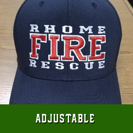 Fire 3 Line Custom Hat - Adjustable