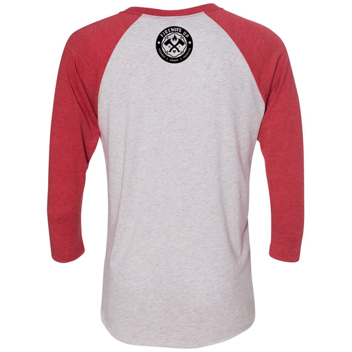 FireWIFE up - Unisex Three-Quarter Sleeve Raglan