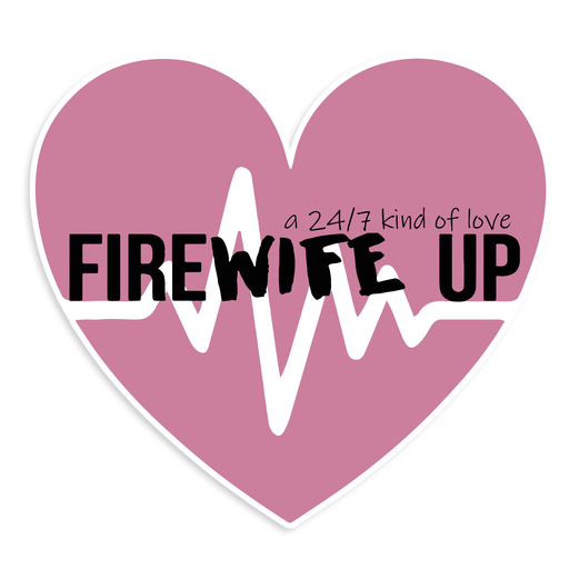 FireWIFE up 24/7 Heart Beat - Sticker
