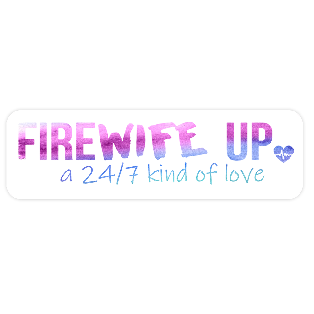 FireWIFE up 24/7 Watercolor Pink Words - Sticker