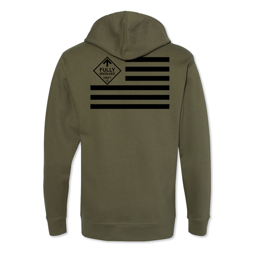 Fully Involved Flag - Midweight Hoodie