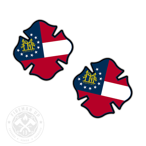 "Georgia Flag Fire Maltese - 2"" Sticker Pack"