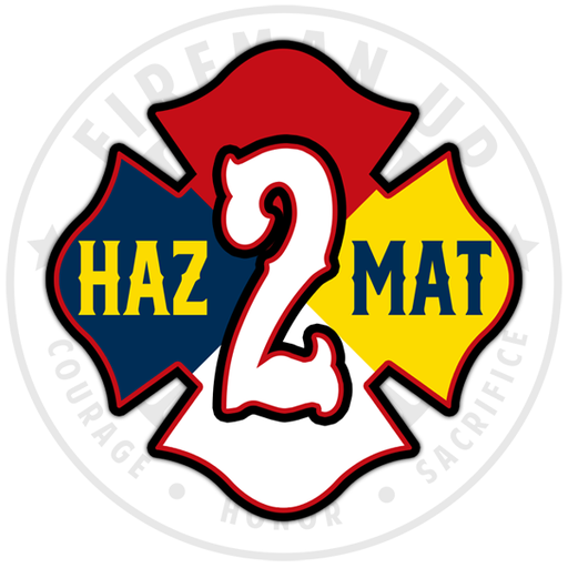 HazMat 2 Sticker Hazardous Materials Fireman Up