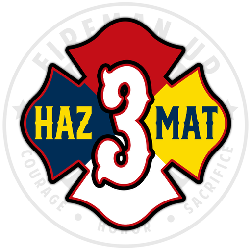 HazMat 3 Hazardous Materials Fireman Up Sticker
