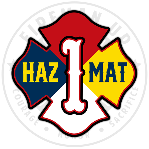 HazMat 1 Hazardous Materials Sticker Decal Fireman Up