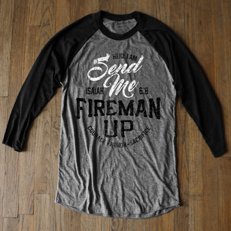 Here I Am, Send Me - Black Raglan