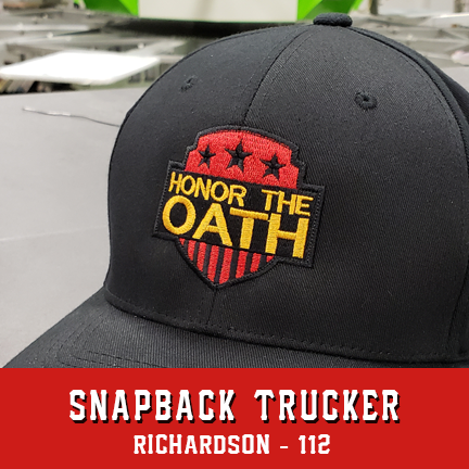 Honor the Oath Logo Custom Hat - Snapback Trucker