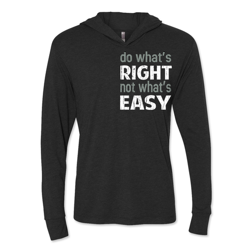 Do What's Right - Unisex Hooded Pullover Tee Black