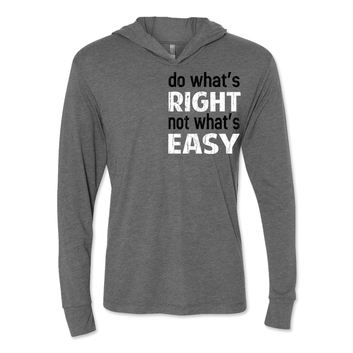 Do What's Right - Unisex Hooded Pullover Tee Grey